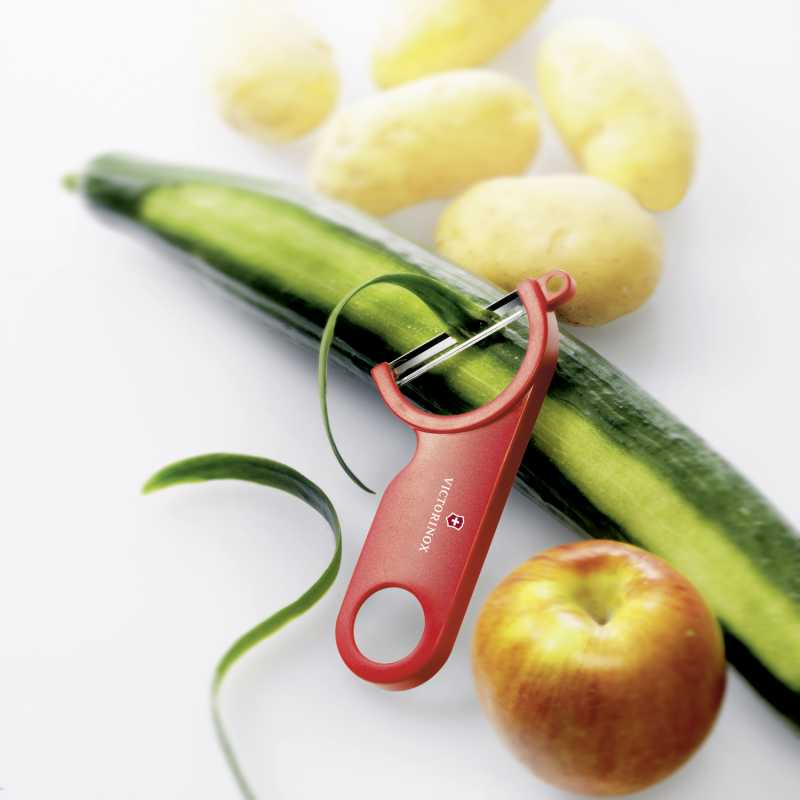 Victorinox Patates-Salatalık-Havuç Soyucu (Kırmızı)
