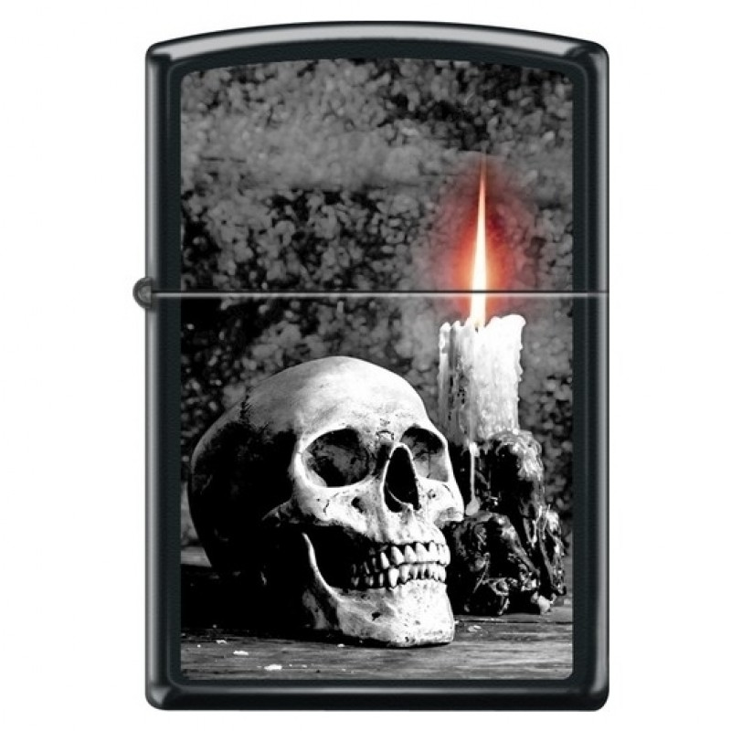 Zippo Skull With Candle