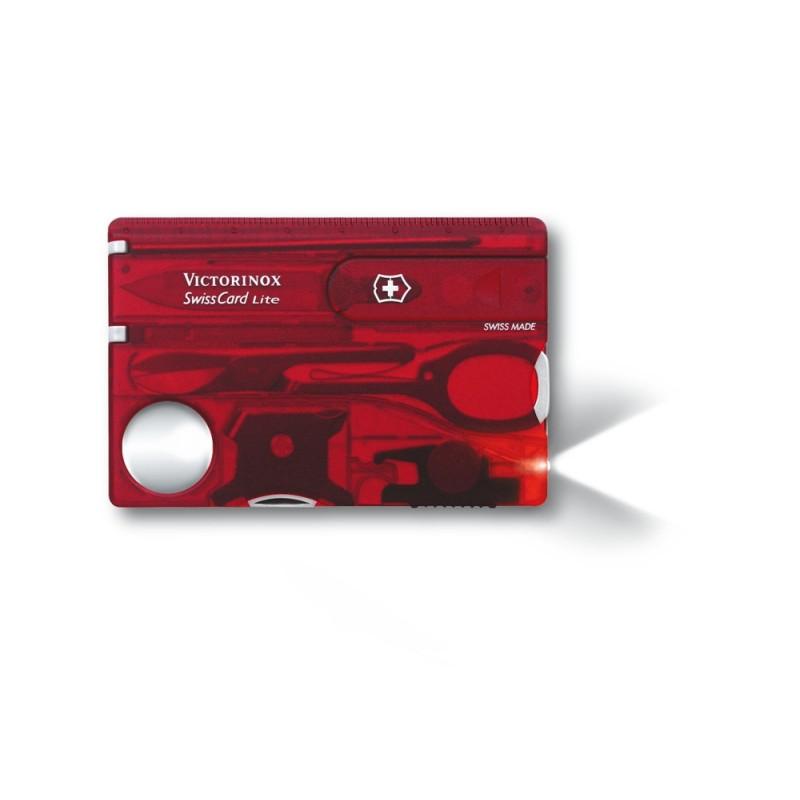 Victorinox Swiss Card Lite (Red Transparent)