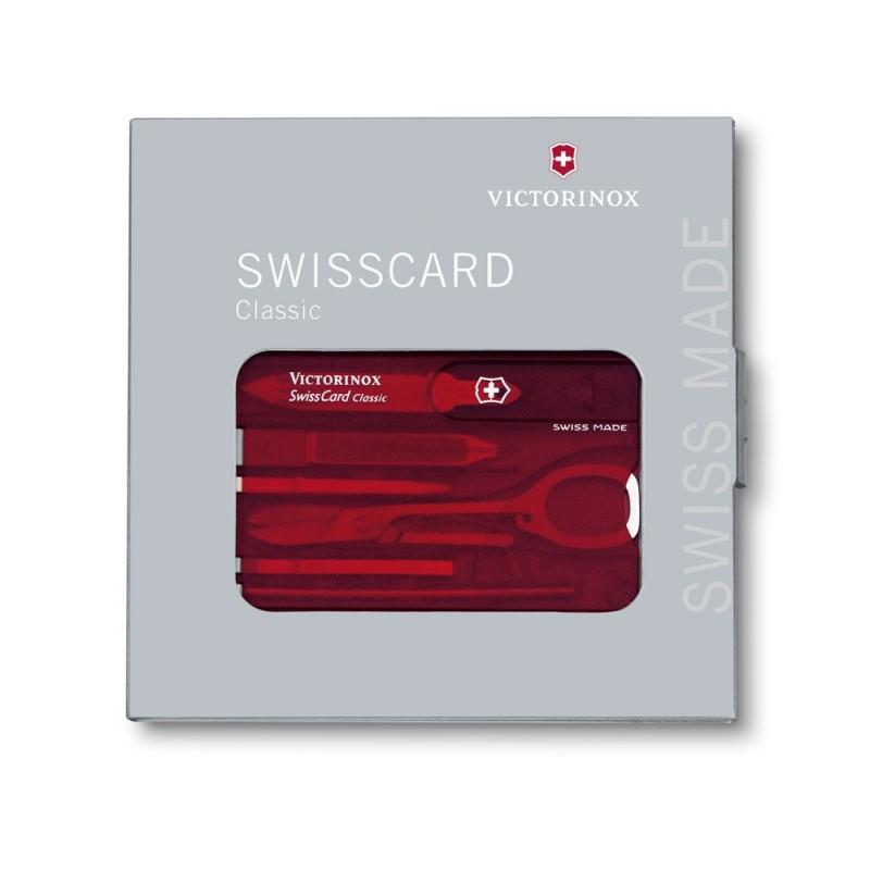 Victorinox Swiss Card Classic (Red Transparent)