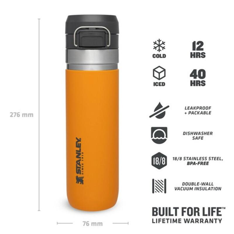 Stanley Go Quick Flip Water Bottle 0.70 LT (Saffron)