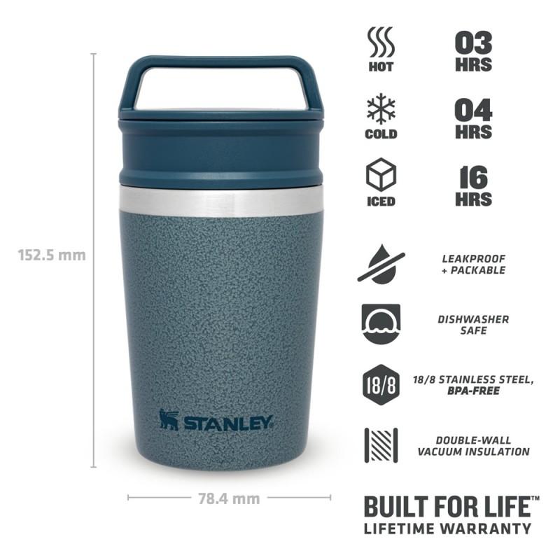 Stanley Adventure Shortstack Travel Mug 0.23 LT (Hammertone Ice)