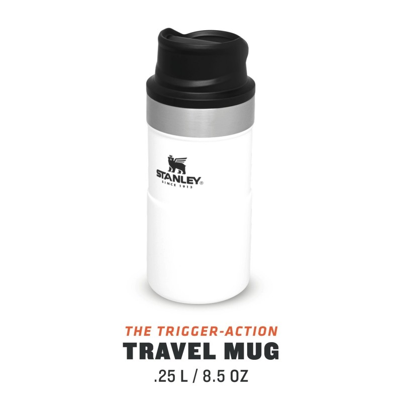 Stanley Classic Trigger-Action Travel Mug - 0.25 LT (Beyaz)
