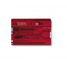 Victorinox Swiss Card Classic (Red Transparent)