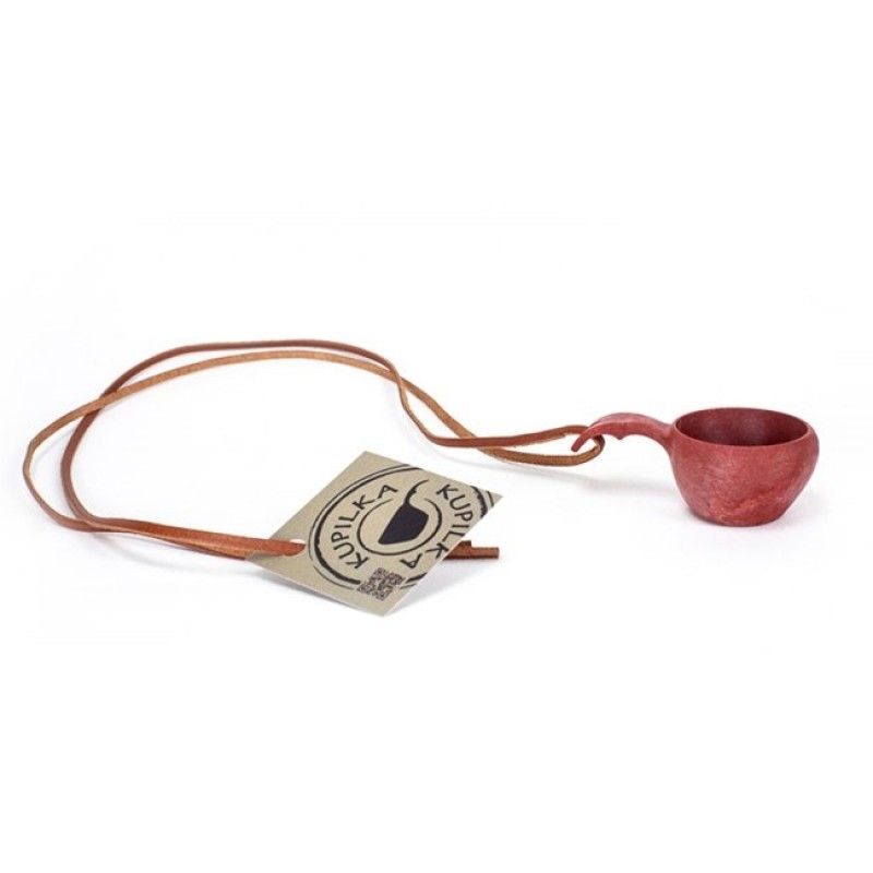 Kupilka No:1 Mini with Leather Cord (Cranberry)