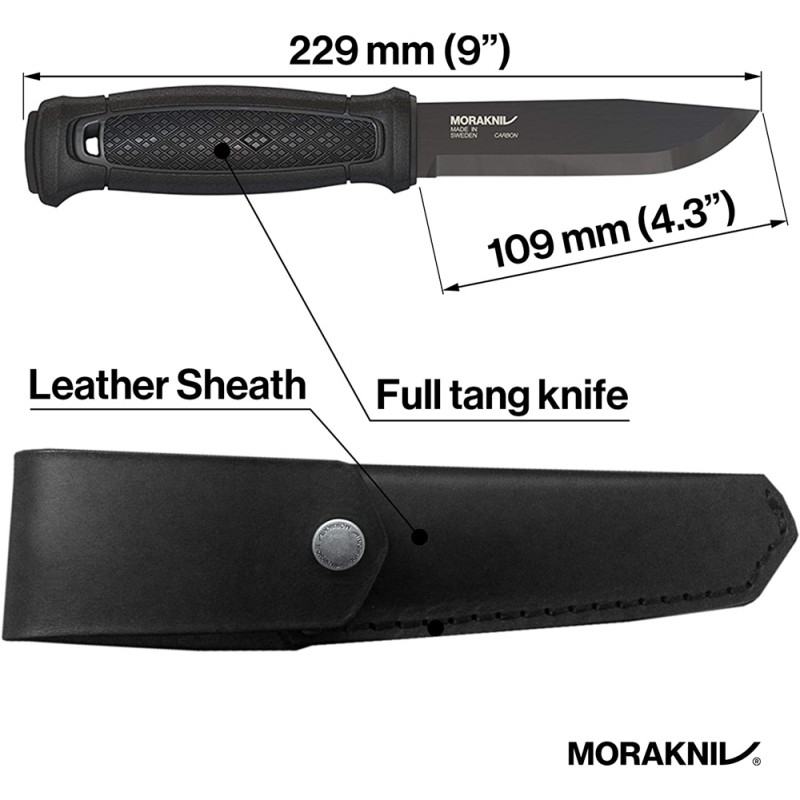 Morakniv Garberg BlackBlade with Leather Sheath C (Carbon)