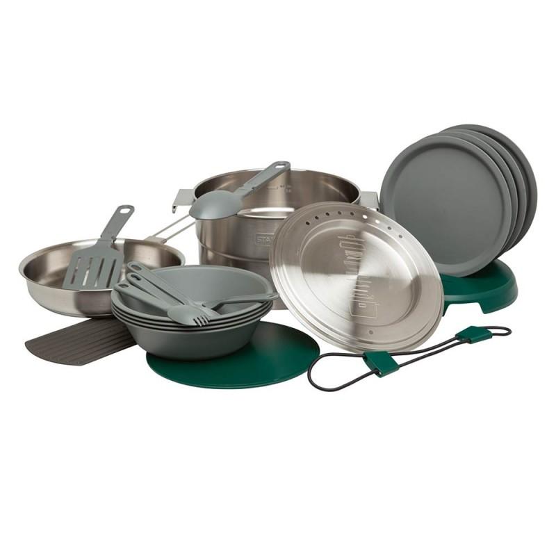 Stanley Adventure Çelik Kamp Pişirme Seti (19 Parça Set) 3,5 LT