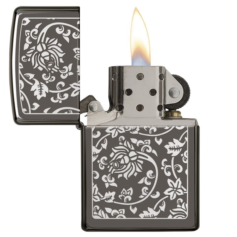 Zippo Chinese Floral Pattern