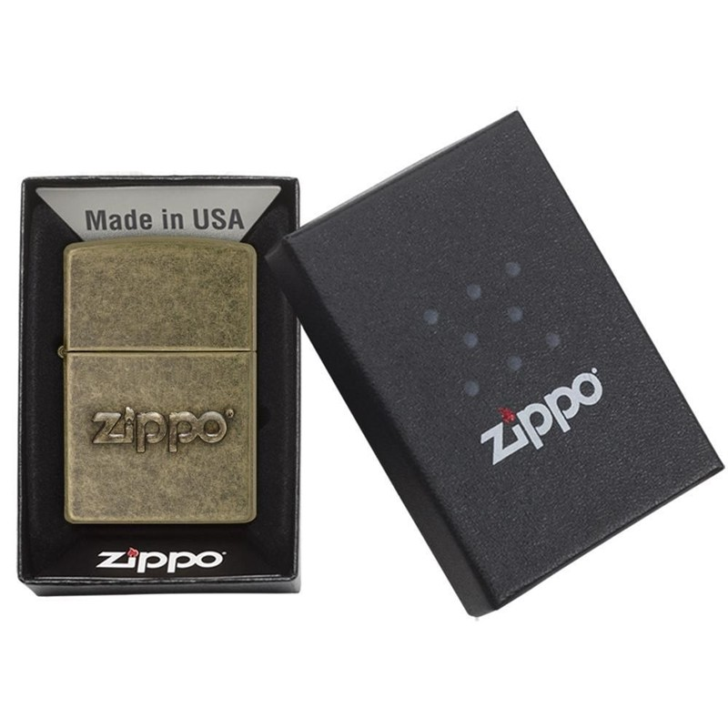 Zippo Stamp Antique Brass