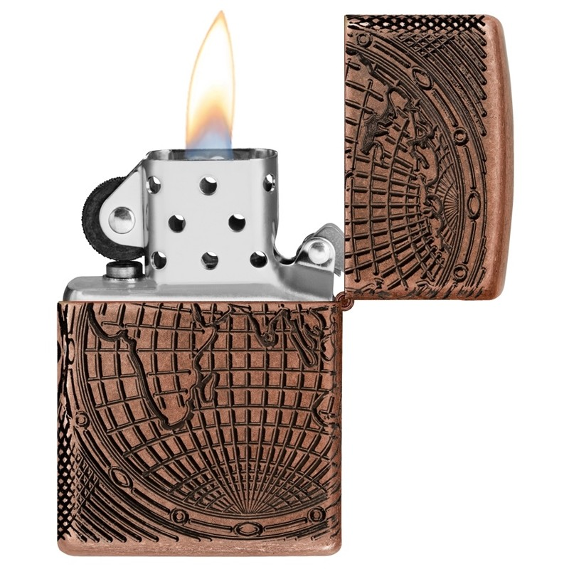 Zippo World Map Design