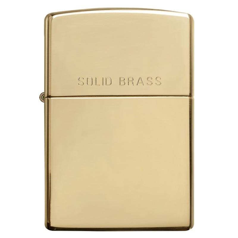Zippo High Polish Solid Brass