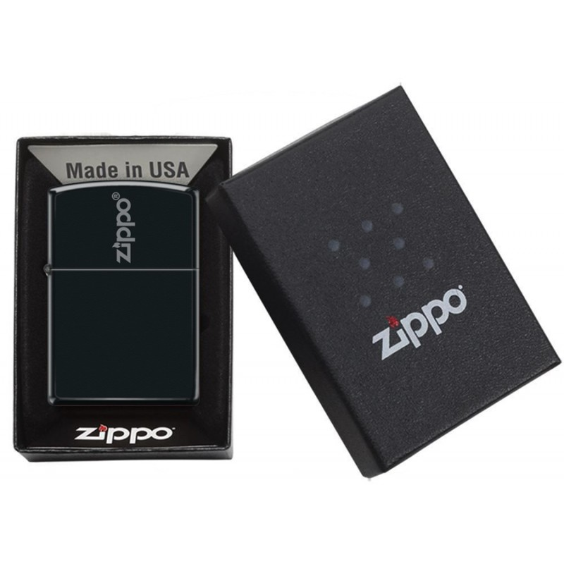 Zippo Centered Lid Design (Mat Black)