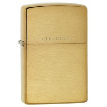 Zippo Brushed Solid Brass