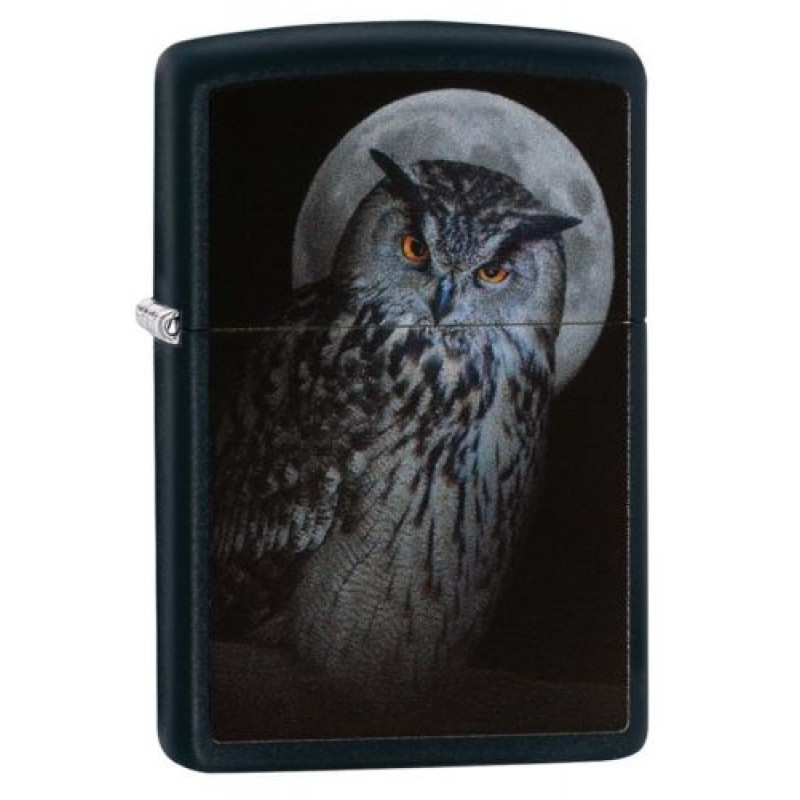 Zippo Owl and Moon