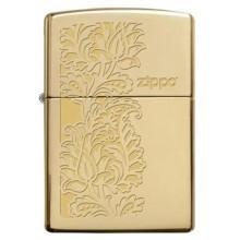 Zippo Paisley Design Brass