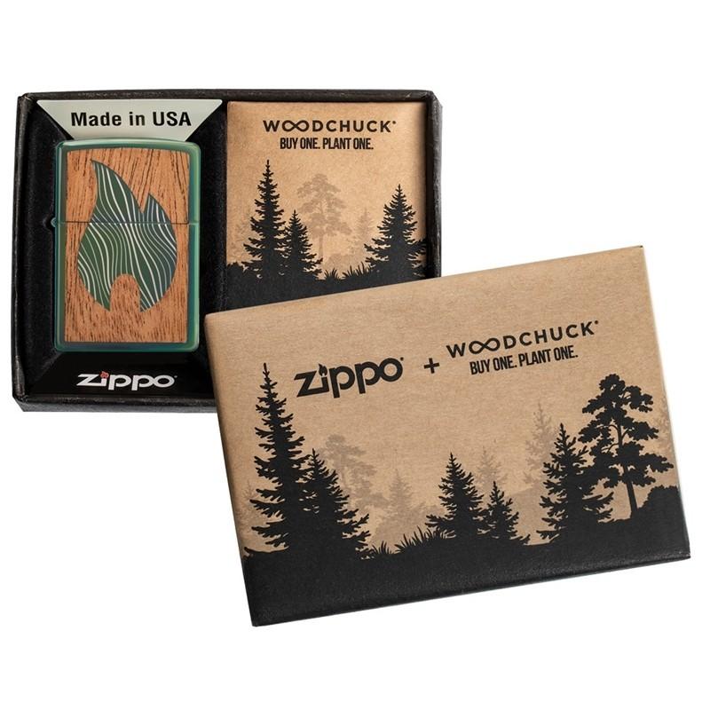 Zippo Woodchuck Usa Flame