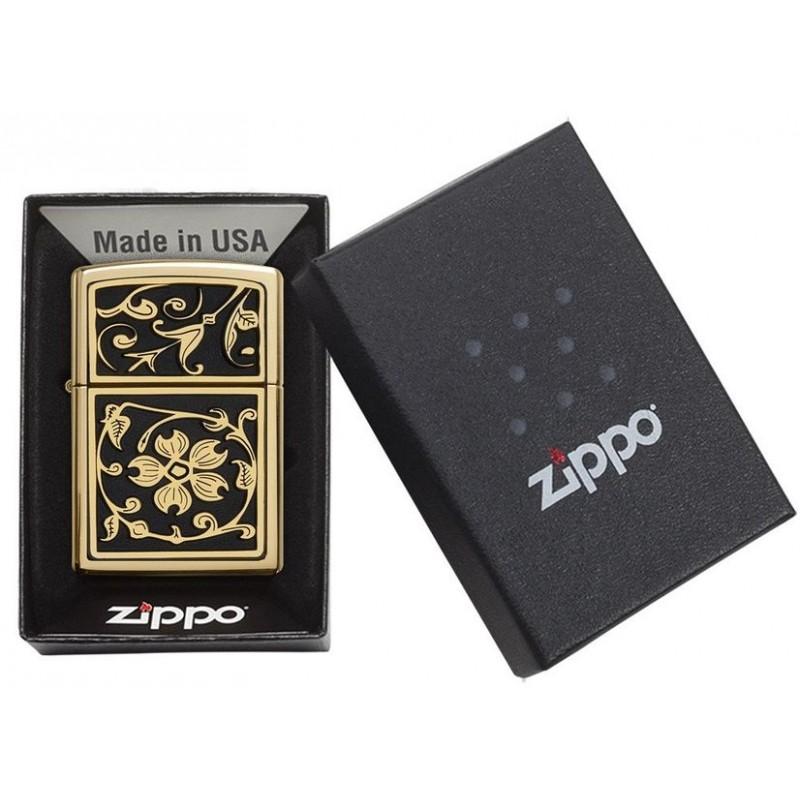 Zippo Gold Floral Flourish