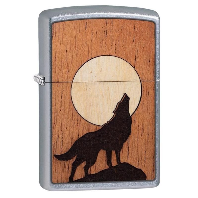 Zippo Woodchuck Howling Wolf