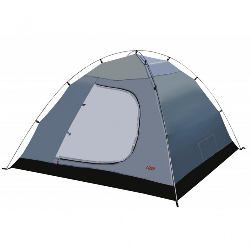 Loap 3+1 Halsa 4 Kişilik Kamp Çadırı (Grey/Red)