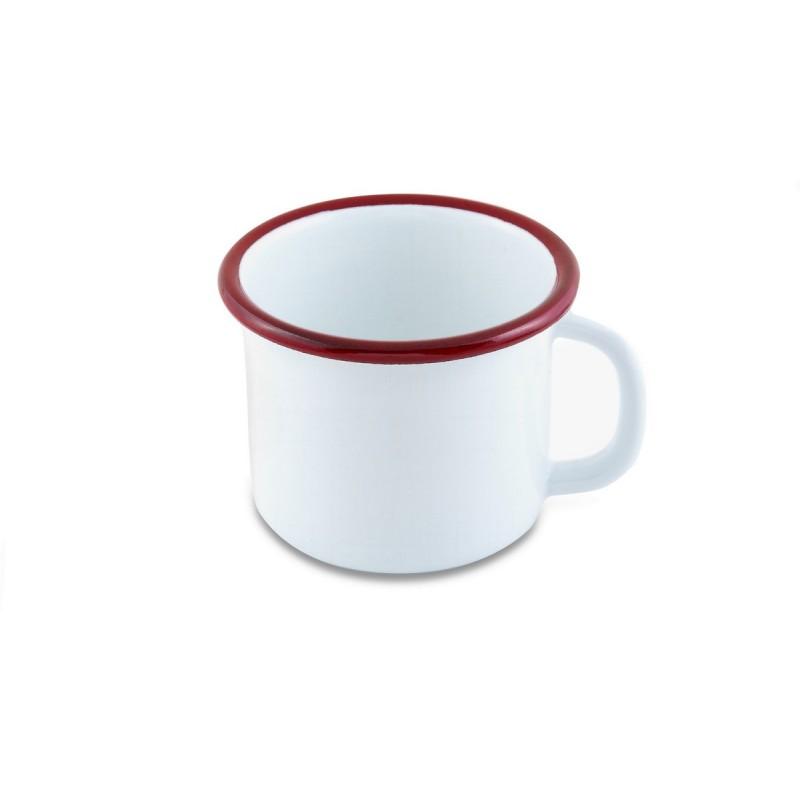 Emaye Kupa Beyaz / Kırmızı