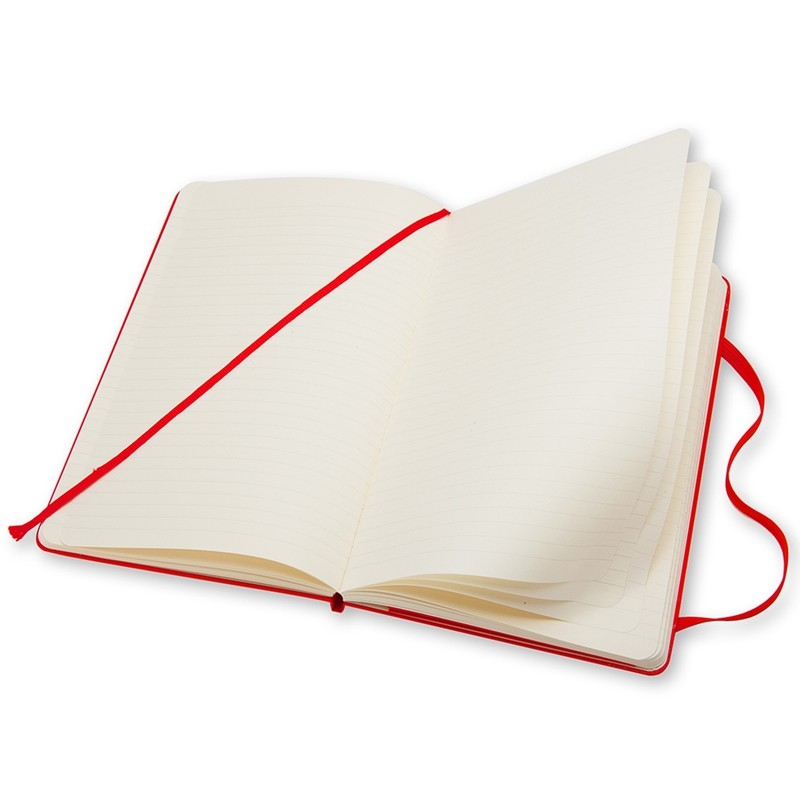 Moleskine Klasik Cep Boy Sert Kapak Çizgili Defter (Kırmızı)