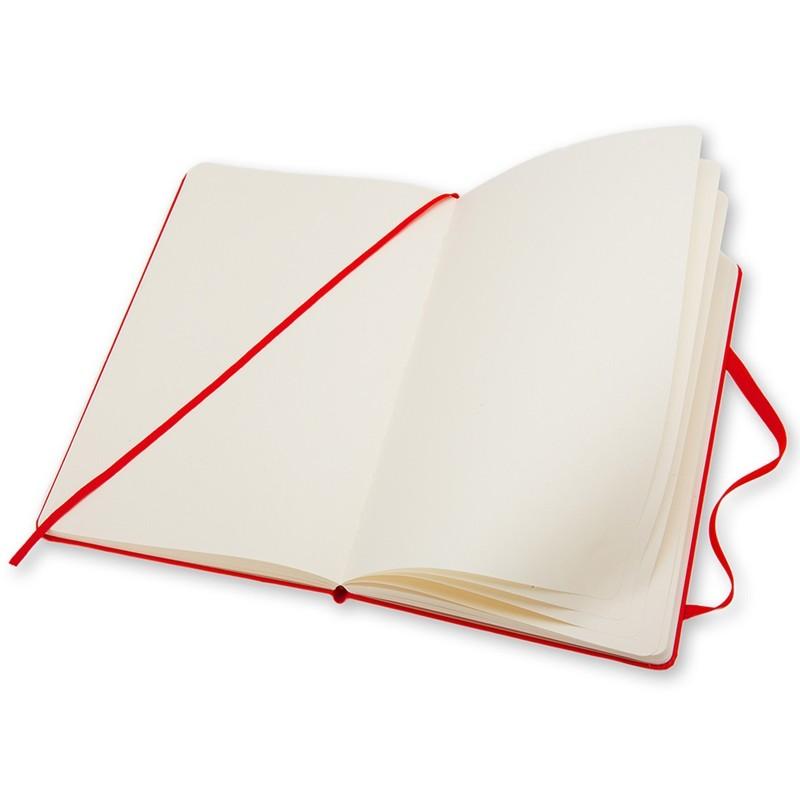 Moleskine Klasik Cep Boy Sert Kapak Çizgisiz Defter (Kırmızı)