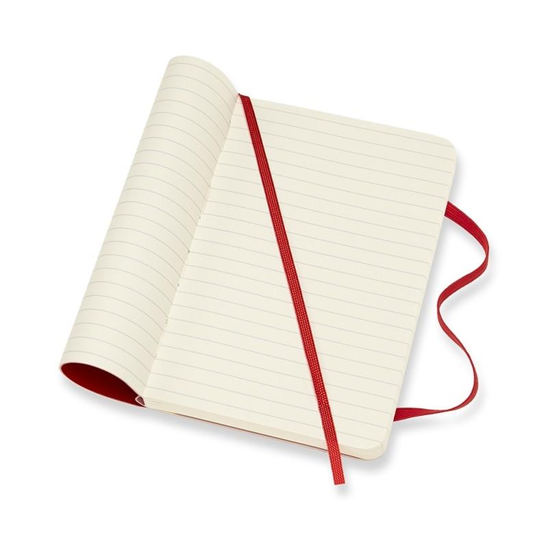 Moleskine Klasik Cep Boy Soft Kapak Çizgili Defter (Kırmızı)