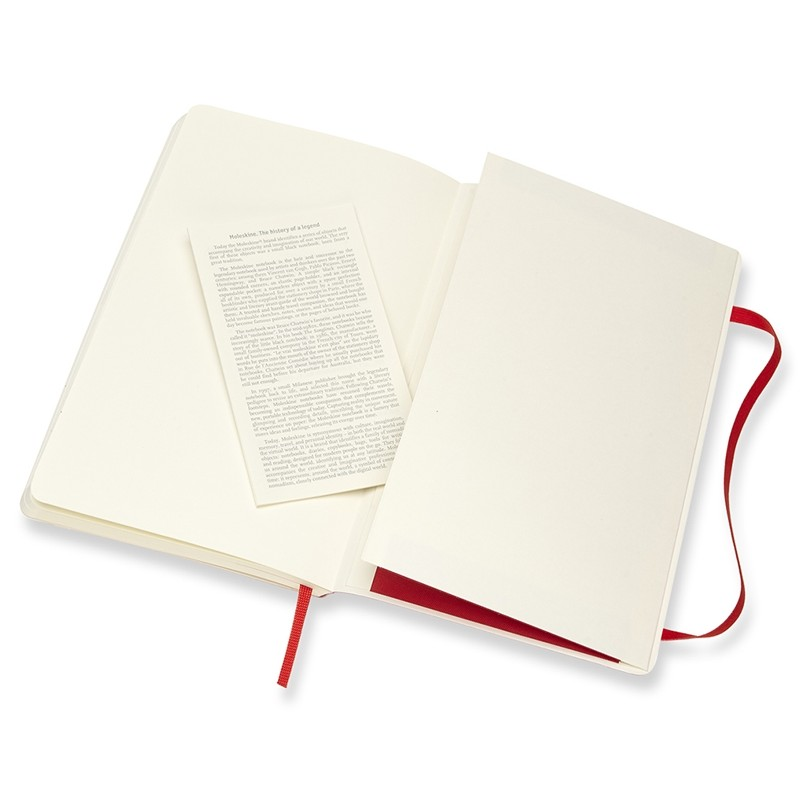 Moleskine Klasik Cep Boy Soft Kapak Çizgisiz Defter (Kırmızı)
